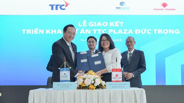 TTC Land và PTCons ký kết hợp tác triển khai dự án TTC Plaza Đức Trọng
