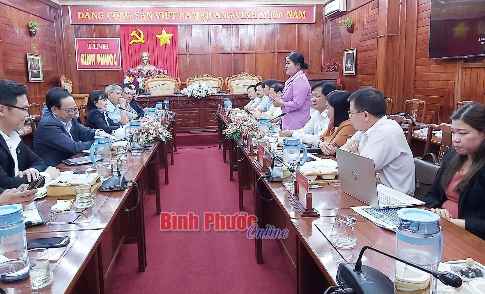 Tập đoàn TTC tìm hiểu cơ hội đầu tư tại Bình Phước