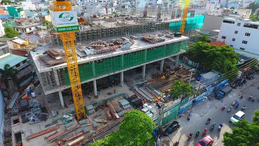 Dự án trung tâm thương mại đầu tiên của TTC Land hiện thi công đến đâu?