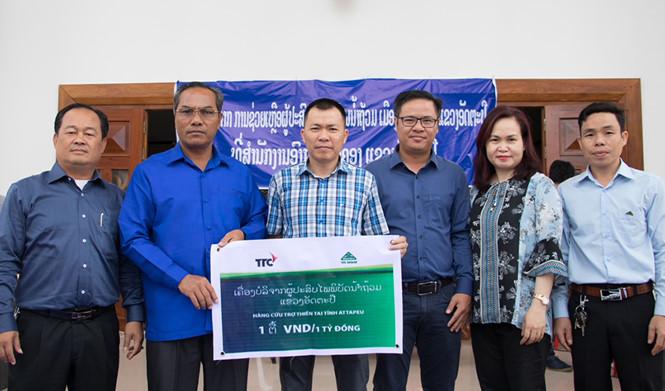 TTC hỗ trợ người dân Attapeu khắc phục hậu quả sau vụ vỡ đập thủy điện